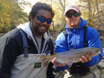 Asheville NC fly fishing guides on Delayed Harvest Water