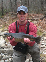 asheville fly fishing guides on West Fork Pigeon River