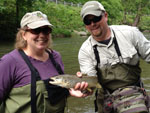Asheville NC fly fishing guides on Delayed Harvest waters