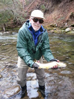 Asheville NC fly fishing guides on the Davidson River