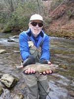 Asheville, NC fly fishing guides on the Davidson River