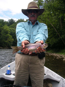Greg Braunstein with a nice Watauga River trout