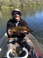 Asheville, NC fly fishing guides for smallmouth bass