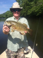 Asheville, NC fly fishing guides for smallmouth bass in East Tennesse