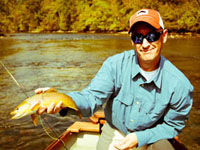 Asheville NC fly fishing guides Travis Brotherton