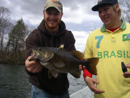 a Pigeon River smallmouth bass